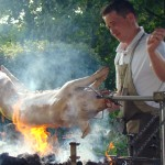 Le barbecue fait son spectacle
